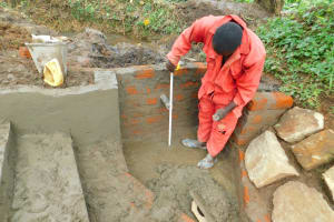 The Water Project: Imbinga Community, Imbinga Spring -  Pipe Measurement