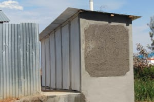The Water Project: Kamimei Secondary School -  Completed Latrine Block