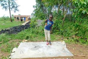 The Water Project: Imbinga Community, Imbinga Spring -  Thumbs Up For Improved Hygiene