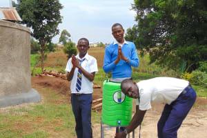 The Water Project: Kamimei Secondary School -  Boys Say Thank You For Improved Hygiene