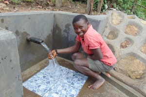 The Water Project: Buyangu Community, Mukhola Spring -  Loving The Flowing Water