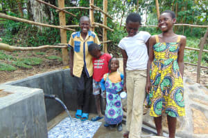 The Water Project: Buyangu Community, Mukhola Spring -  Happy Kids At The Spring