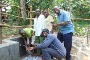 The Water Project: Buyangu Community, Mukhola Spring -  Men Celebrate The Spring
