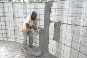 The Water Project: Ebukhuliti Primary School -  Interior Cement Work Begins