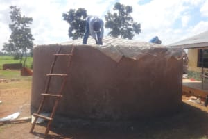 The Water Project: Mwichina Primary School -  Adjusting Dome Structure