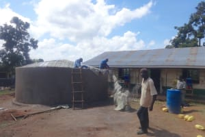 The Water Project: Mwichina Primary School -  Trimming The Dome Structure