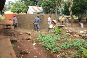 The Water Project: St. Joseph's Lusumu Primary School -  Teamwork At The Tank