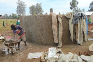 The Water Project: Ebukhayi Primary School -  Outer Cement Work