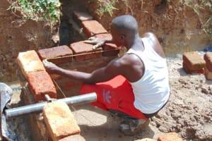 The Water Project: Kimarani Community, Kipsiro Spring -  Spring Wall Measurements