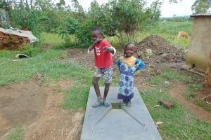 The Water Project: Buyangu Community, Mukhola Spring -  Kids On New Sanitation Platform