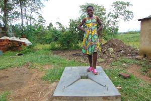The Water Project: Buyangu Community, Mukhola Spring -  New Sanitation Platform Owner