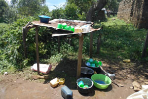 The Water Project: St. Peters Bwanga Primary School -  Dishrack