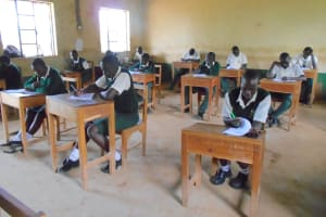 The Water Project: Friends School Manguliro Secondary -  Students In Class Exam Session