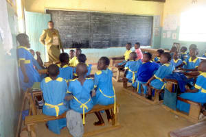The Water Project: Isikhi Primary School -  Teacher Amboste Heads A Class