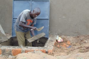 The Water Project: Kosiage Primary School -  Access Point And Manhole Cover Work