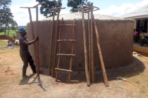 The Water Project: Mwichina Primary School -  Wooden Ladder And Supports