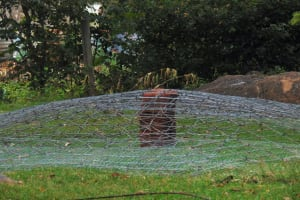 The Water Project: Banja Secondary School -  Dome Wire Sits Ready