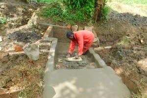 The Water Project: Imbinga Community, Imbinga Spring -  Setting The Stairs