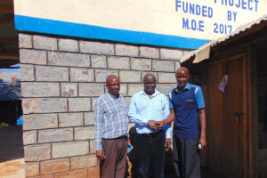 The Water Project: Kitagwa Secondary School -  Mr Mahelo With Board Members
