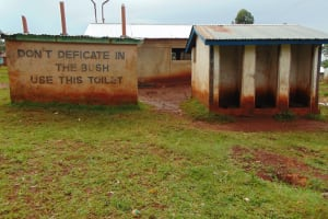 The Water Project: Kitagwa Primary School -  Girls Latrines