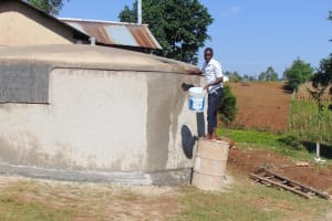The Water Project: Kamimei Secondary School -  Curing Cement With Water