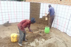 The Water Project: Kipchorwa Primary School -  Artisans Cement Tank Interior