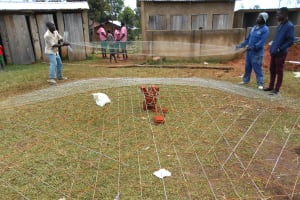 The Water Project: Ebukhayi Primary School -  Adding Metal Mesh To Dome