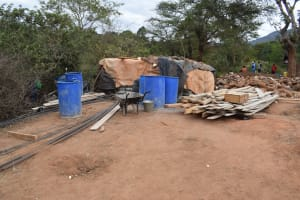 The Water Project: Utuneni Community B -  Construction Materials