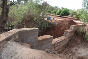 The Water Project: Utuneni Community B -  Dam Cement Cures