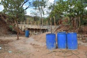 The Water Project: Utuneni Community B -  Early Dam Progress