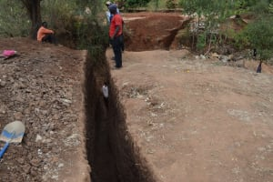 The Water Project: Utuneni Community B -  Wing Wall Trench