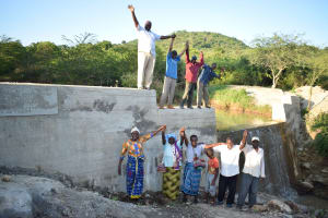 The Water Project: Kithumba Community D -  Shg Members At Their New Dam