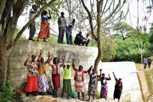The Water Project: Kaketi Community -  Celebrating At The New Dam
