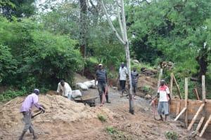 The Water Project: Kaketi Community -  Dam Construction