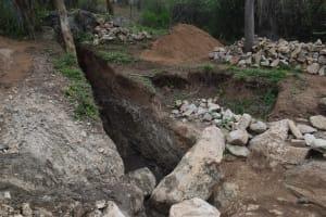 The Water Project: Kaketi Community -  Trenching