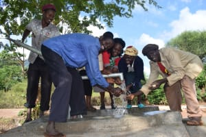 The Water Project: Utuneni Community C -  Water From The Well