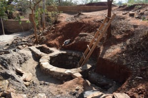 The Water Project: Utuneni Community C -  Well Foundation Underway