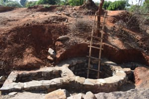 The Water Project: Utuneni Community C -  Well Foundation Work