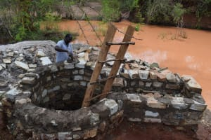 The Water Project: Utuneni Community C -  Well Pad Construction