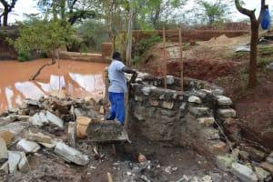 The Water Project: Utuneni Community C -  Well Pad Progress