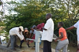 The Water Project: Kithumba Community E -  Getting Water At The Well