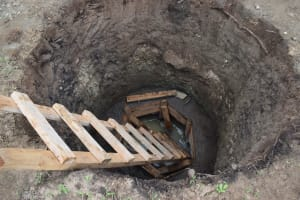 The Water Project: Kaketi Community A -  Hole Dug For Well