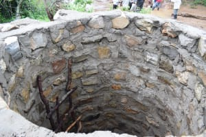 The Water Project: Kaketi Community A -  Inside Well As It Nears Completion