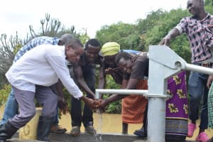 The Water Project: Kaketi Community A -  Water At The New Well