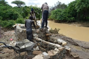 The Water Project: Kaketi Community A -  Well Phase Four