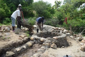The Water Project: Kaketi Community A -  Working On The Well