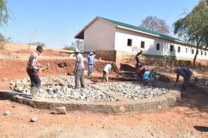 The Water Project: AIC Mbao Primary School -  Early Construction Phase
