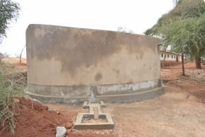 The Water Project: AIC Mbao Primary School -  Finished Tank Construction
