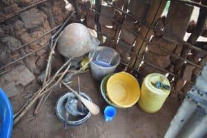 The Water Project: Kathamba ngii Community B -  Inside Kitchen