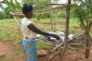 The Water Project: Kathamba ngii Community C -  Dishrack